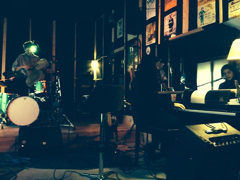 rehearsing with JM (@ Studio du Cerisier)